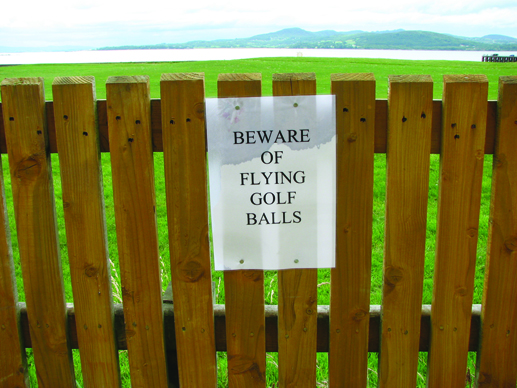 Always good advice; necessary advice at Buncrana.