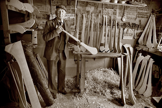 Hurley-maker, Co. Tipperary, 1985.