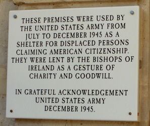 Though officially neutral, Irish priests aided Americans here during WWII.