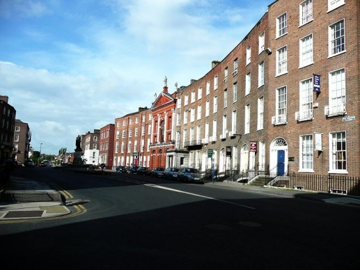 The Crescent, one of the best-preserved streets for Limerick's Georgian architecture.