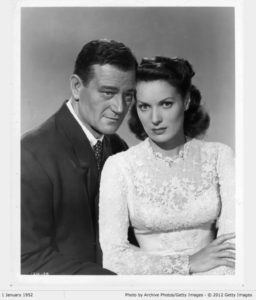Wayne and O'Hara in 1952. Photo: Paramount.