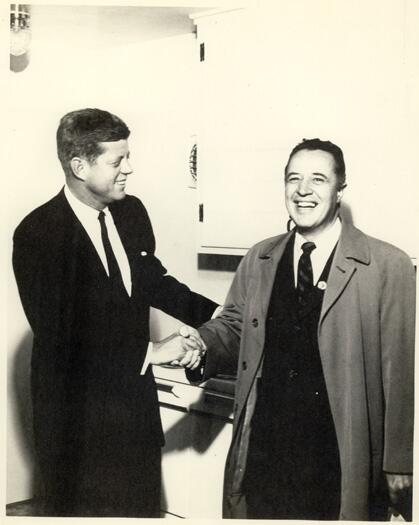 John F. Kennedy  and James W. Colbert,  Jr., M.D. in 1960.