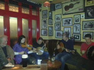 The trad session at Tig Cóilí in Galway, where the music continues long after midnight.
