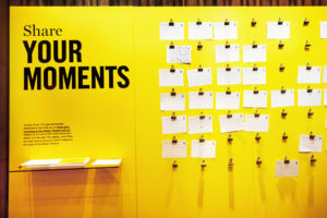 There are still spots left to share your own Abbey moments on the public board in the theater.