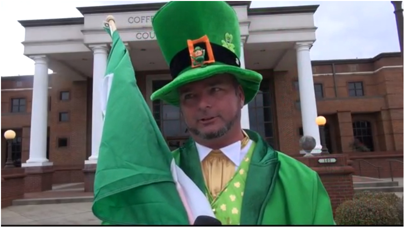Mark Doyle, 2014 Grand Marshal of Enterprise's St. Patrick's Day Parade. (Image: WTVY CBS)