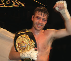 John Duddy holding the IBA middleweight championship belt after his victory over Yori Boy Campas. (Photo: Nuala Purcell)