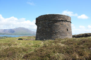 The Ardagh Martello watch tower, one of two Martello towers remaining on the island.