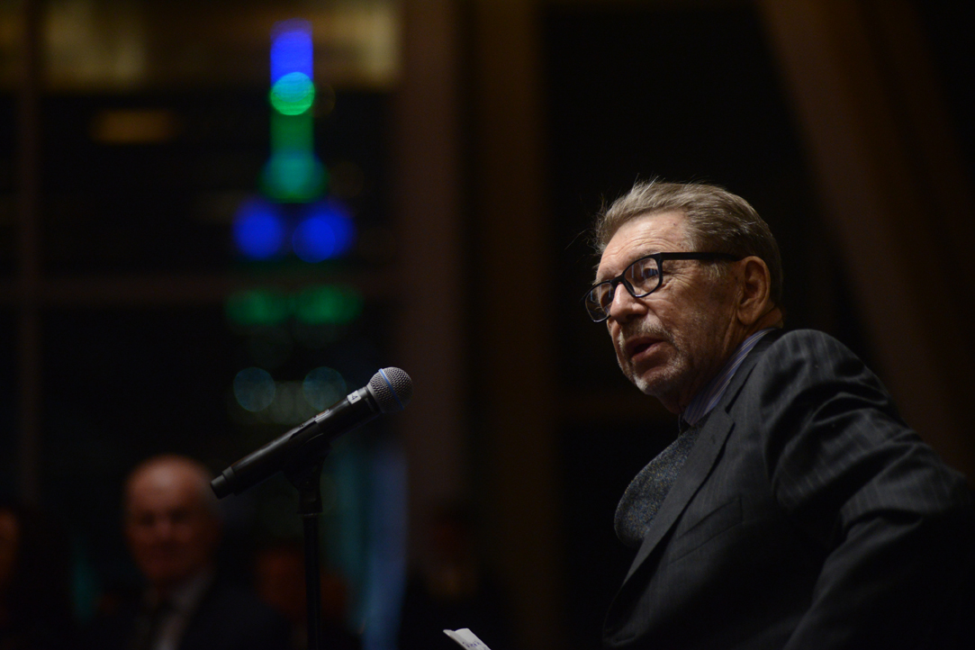 Pete Hamill at the Glucksman Ireland House NYU Annual Gala 2015, February 24, 2015. Photo: James Higgins © 2015