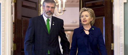 Gerry Adams with Hillary at the White House in 2009. (Photo: Reuters News Pictures)