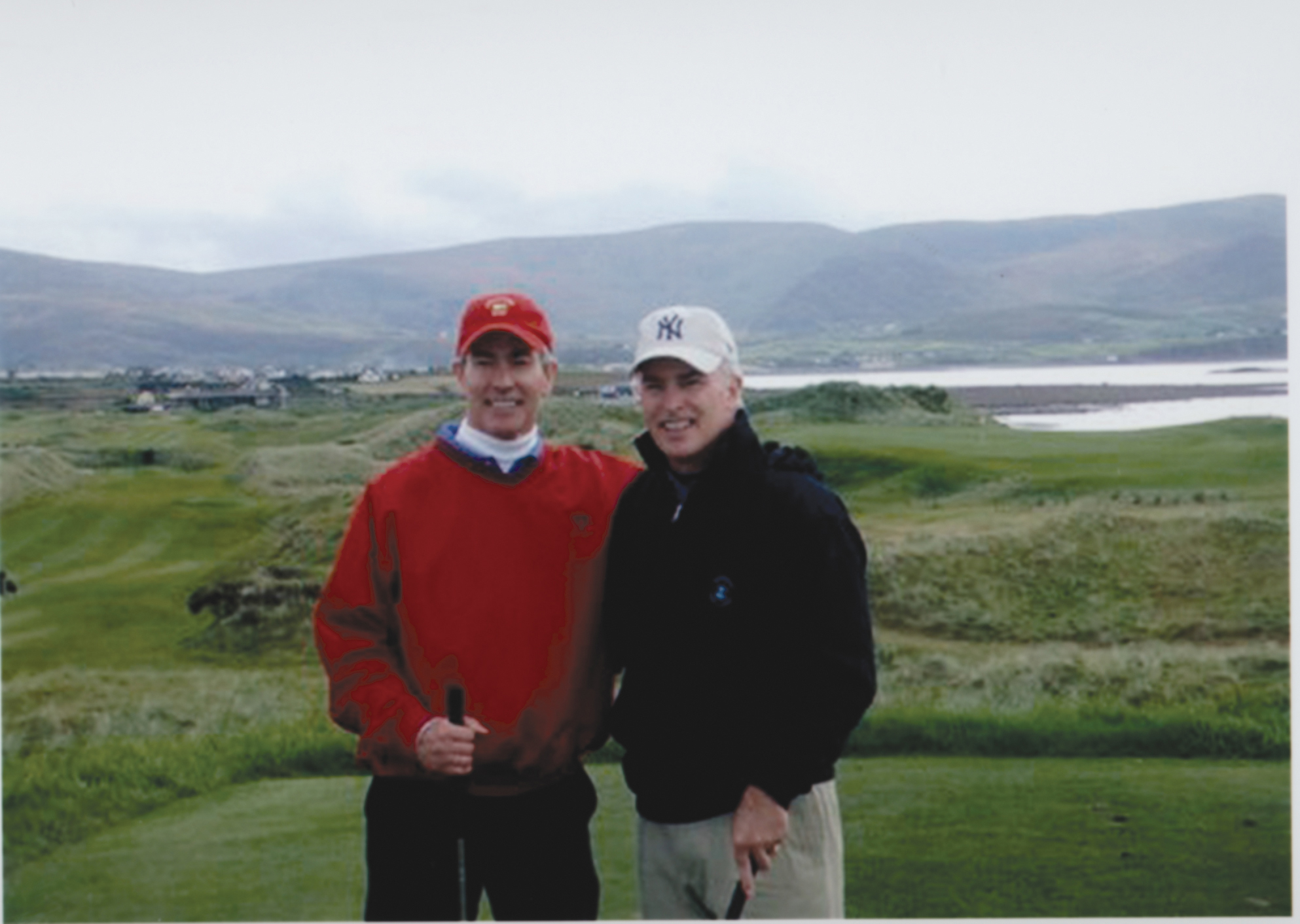 Bob (right) and Brian (left) McCann, his brother, at Waterville Golf Links in Ireland. (Photo courtesy Bob McCann)