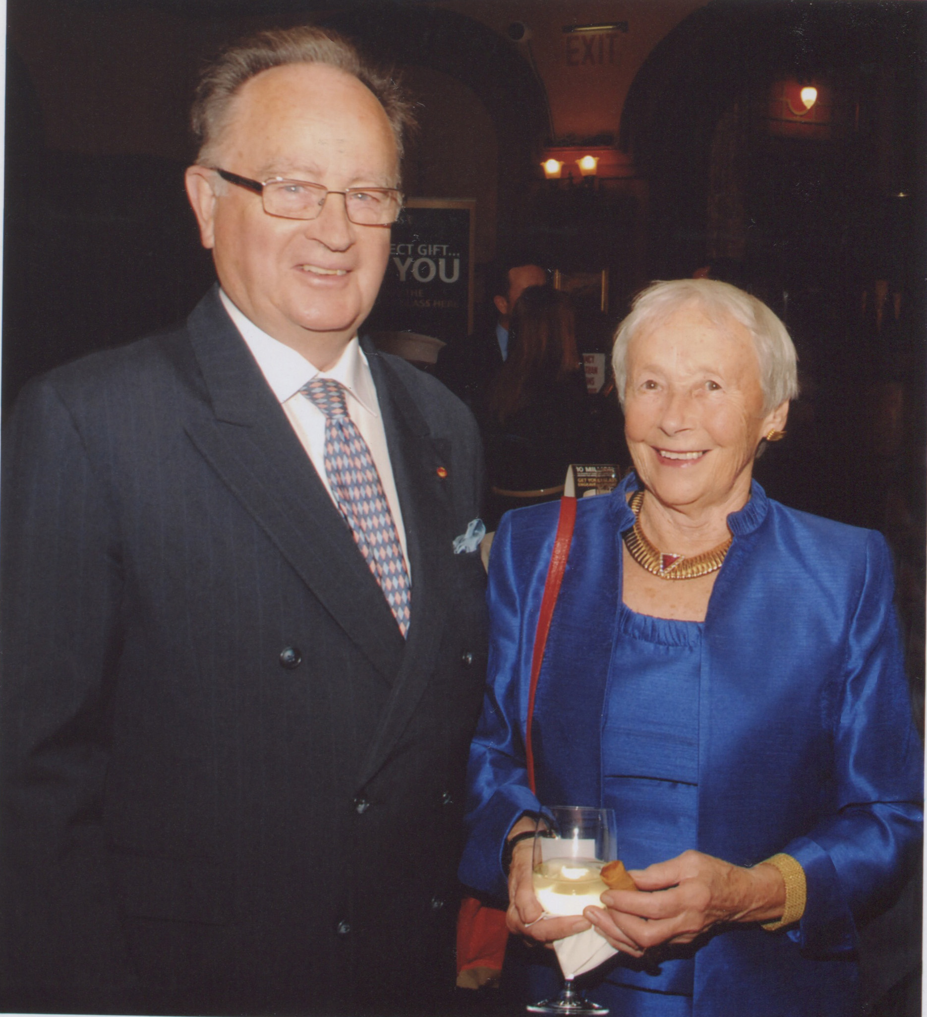With his wife, Ray. (Photo: Nuala Purcell)