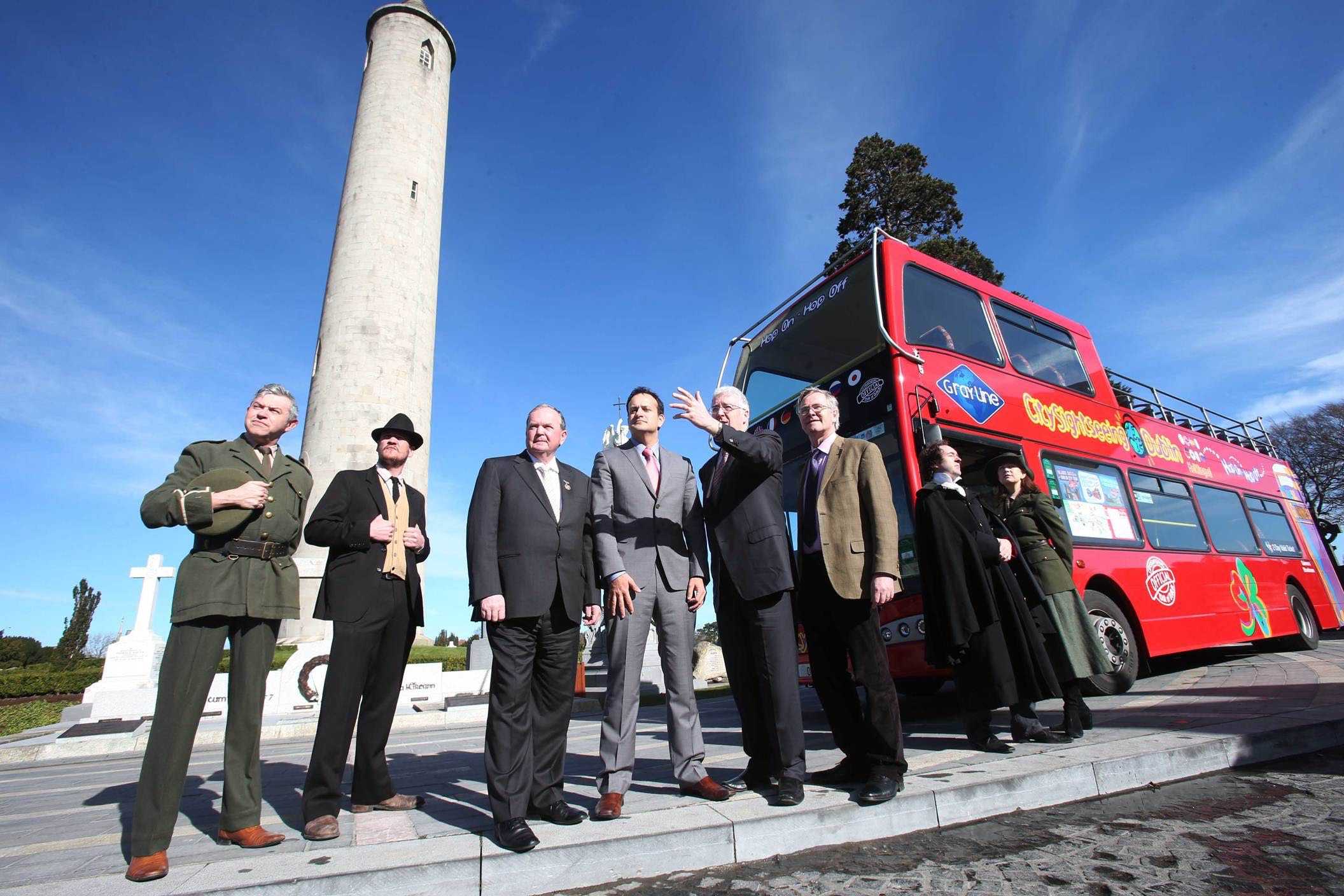 The launch of CityScape's Dublin Bus Tour at Glasnevin.