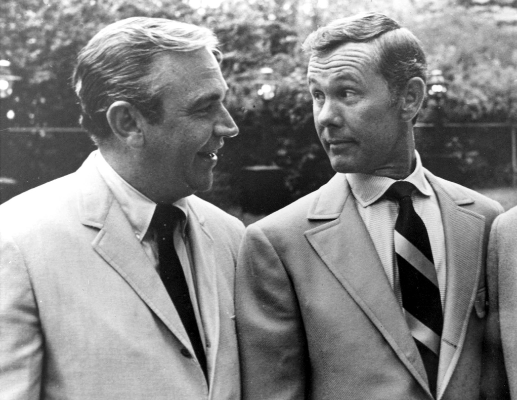 Keough and Johnny Carson. The two worked together on local Omaha television before Carson took over the Tonight Show.