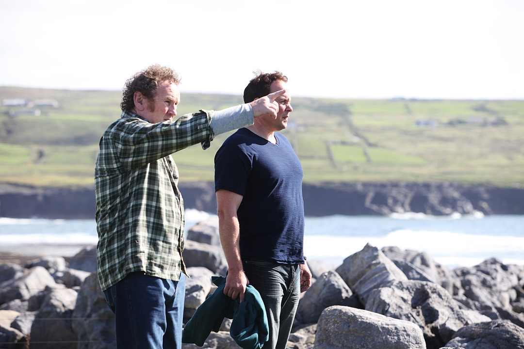 """Irish actor Colm Meaney, left, and Cleveland filmmaker-actor Sean Lackey in """"The Yank."""" (Photo: CIFF)"""
