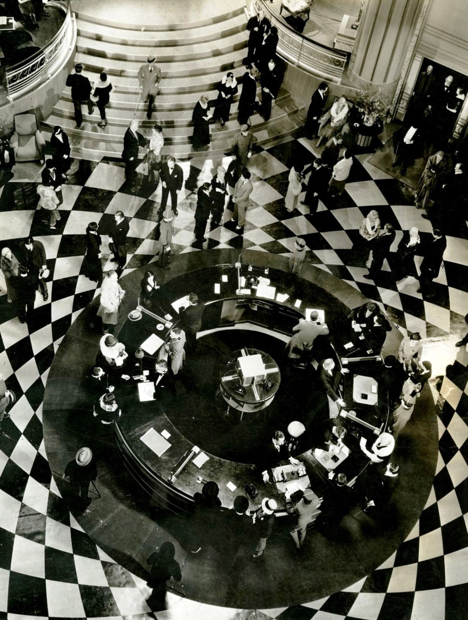 Grand Hotel lobby from Grand Hotel (1932). MGM