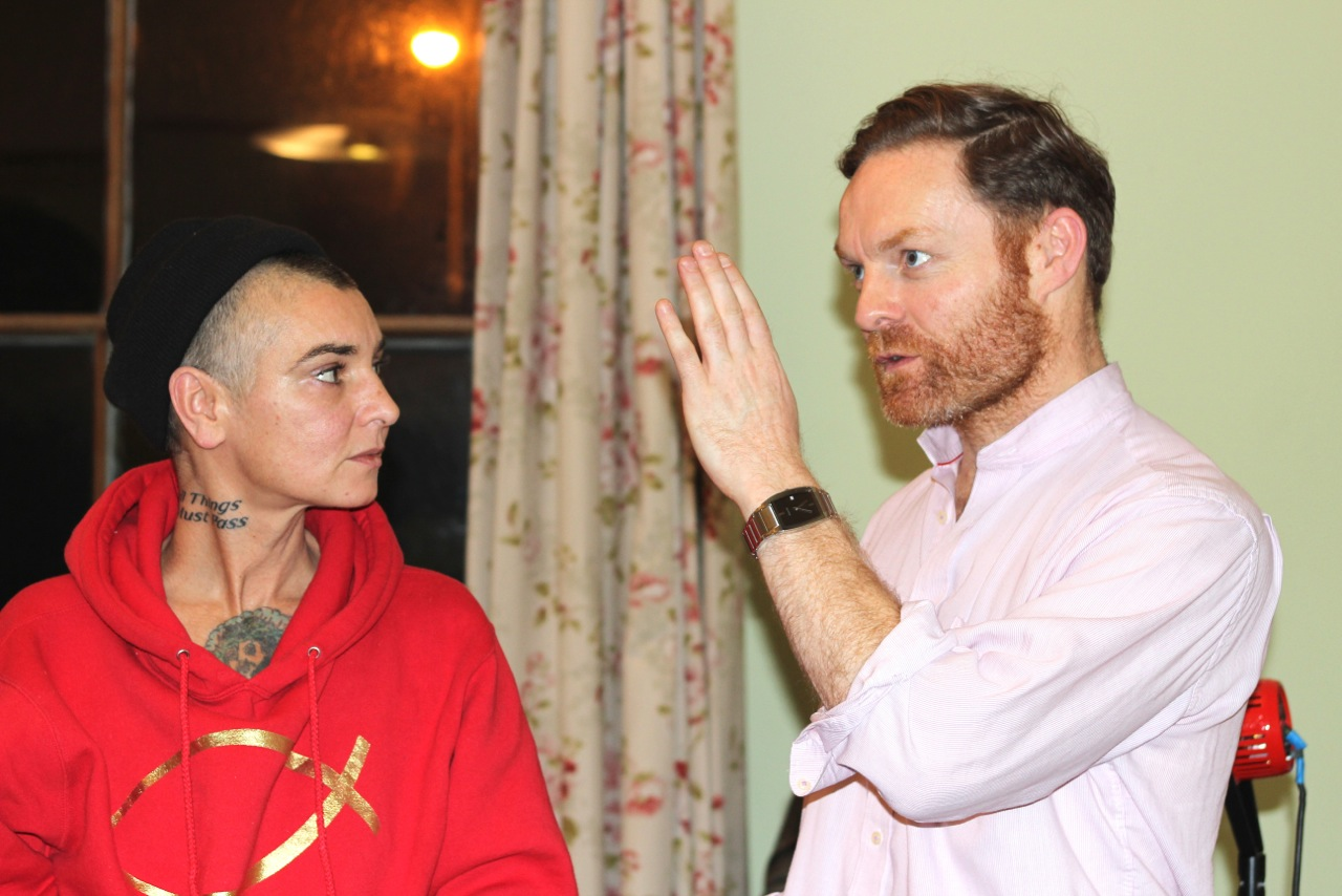Sinead O'Connor with Kevin McCann, who is producing the forthcoming Easter Rising film centered on the life and death of  Seán MacDiarmada. Photo courtesy Kevin McCann.