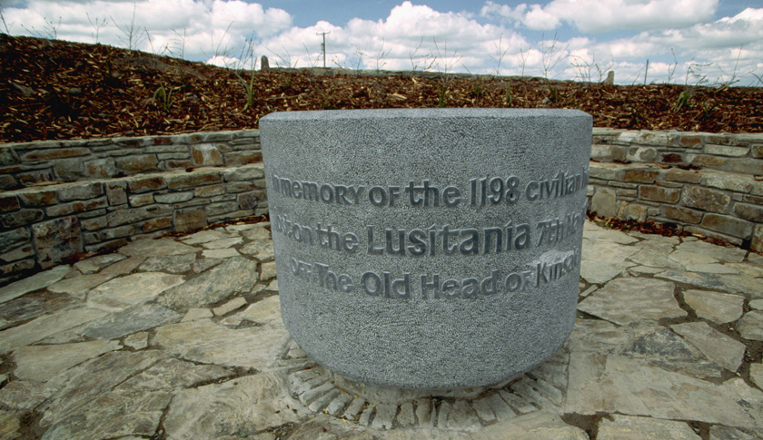 The Lusitania was torpedoed just a few miles from the shore of County Cork, Ireland, where it looms large in local culture. This memorial in County Cork commemorates the sinking. (Richard Cummins—Corbis / Fortune)