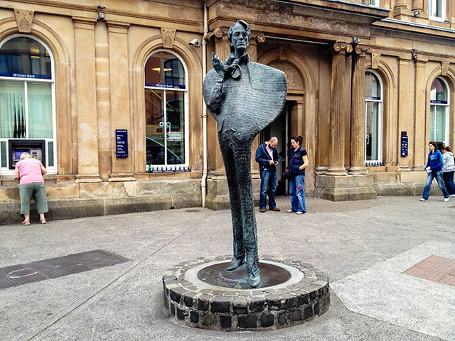 Yeats Statue in Sligo Town.