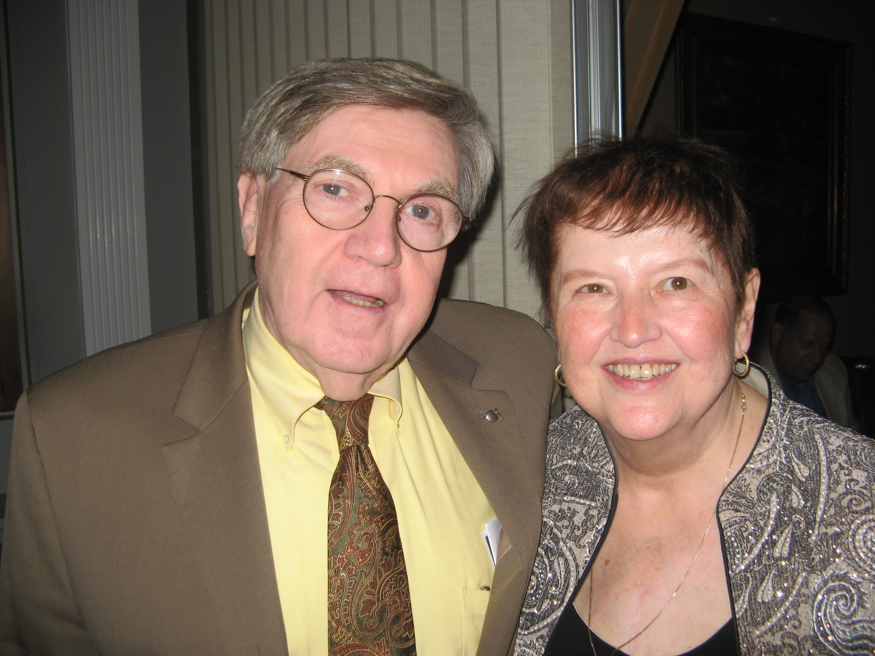 Andy McGowan with his wife Judy at the Yeats celebration. (Photo courtesy Wild Geese)