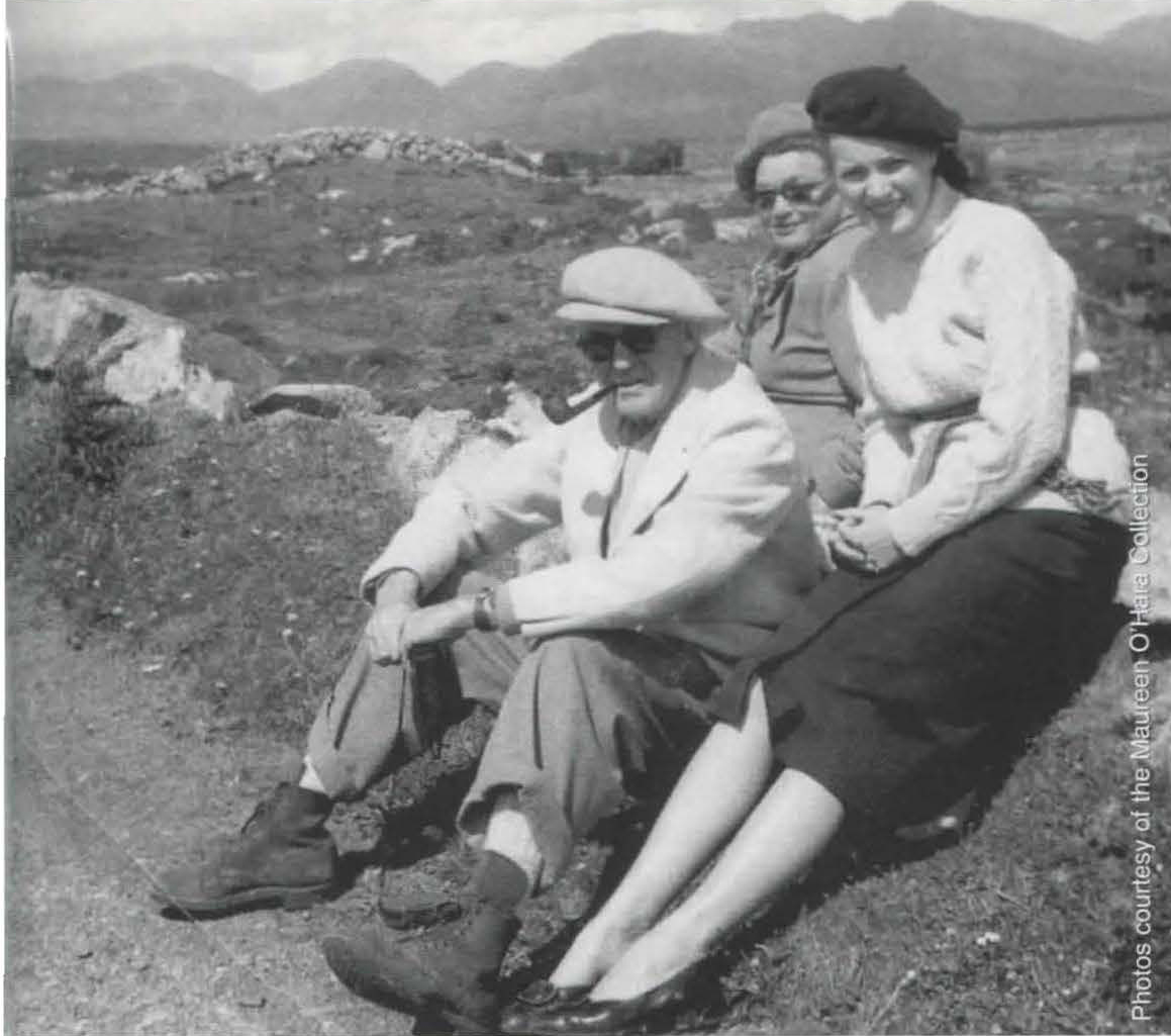 O'Hara with director John Ford and Meta Sterne in Ireland. (Courtesy Maureen O'Hara Collection)