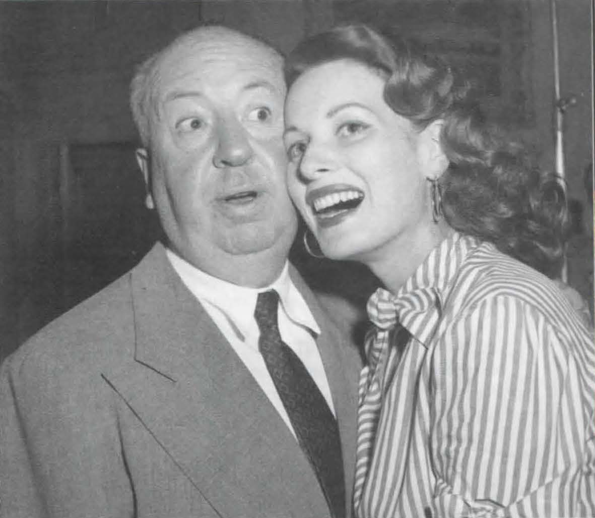 With Alfred Hitchcock, who directed her in Jamaica Inn. (Courtesy Maureen O'Hara Collection)