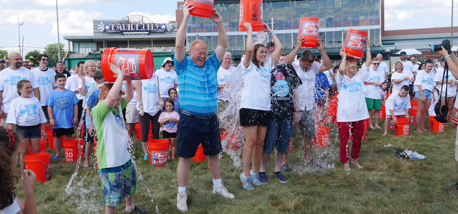 A crowd of 700 was on hand to take part in the relaunch of the ALS Water Bucket Challenge on Sunday, August 2, at Empire City Casino, including founder Pat Quinn.