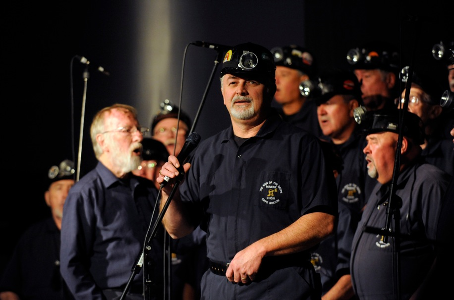 The choir Men of the Deeps, all former miners or people who work in related industries in Sydney Mines on Cape Breton.
