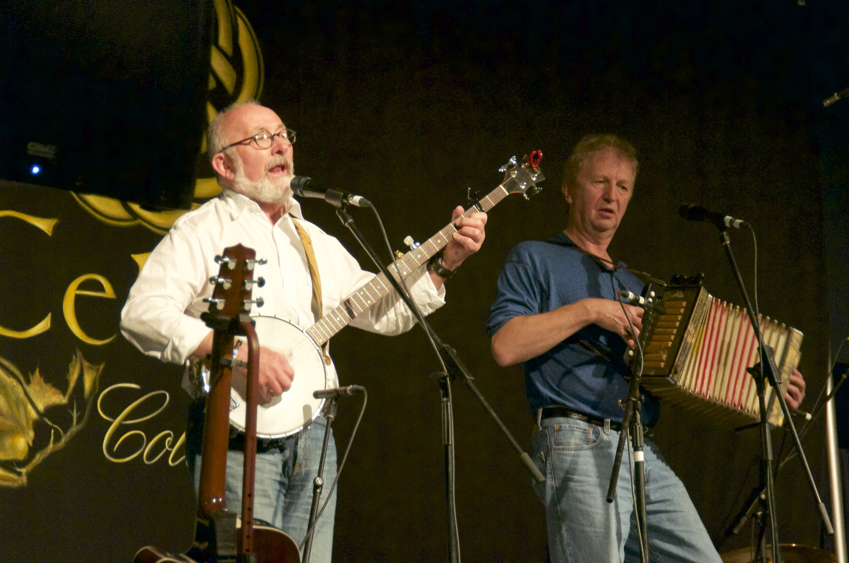 Fergus O'Byrne and Jim Payne at the Festival Club.