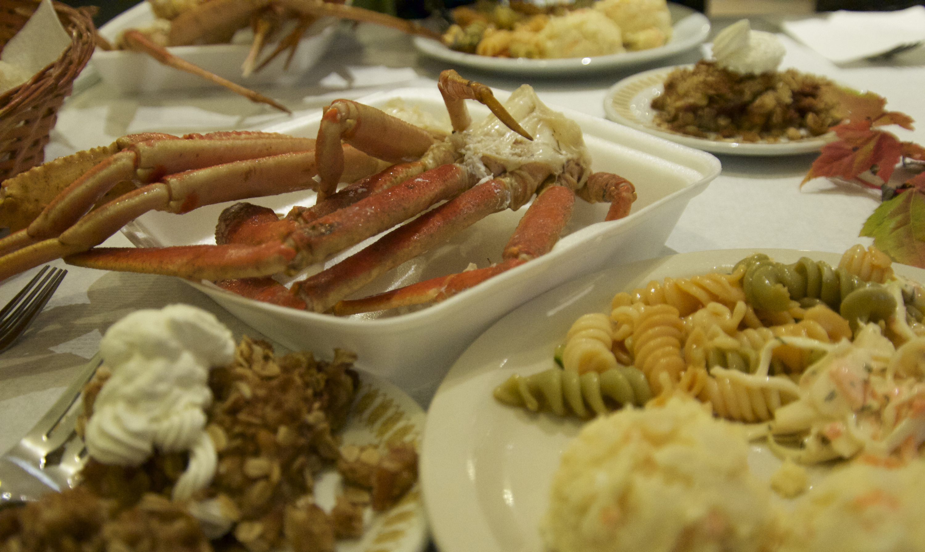 Crab dinner at North Shore fire hall.