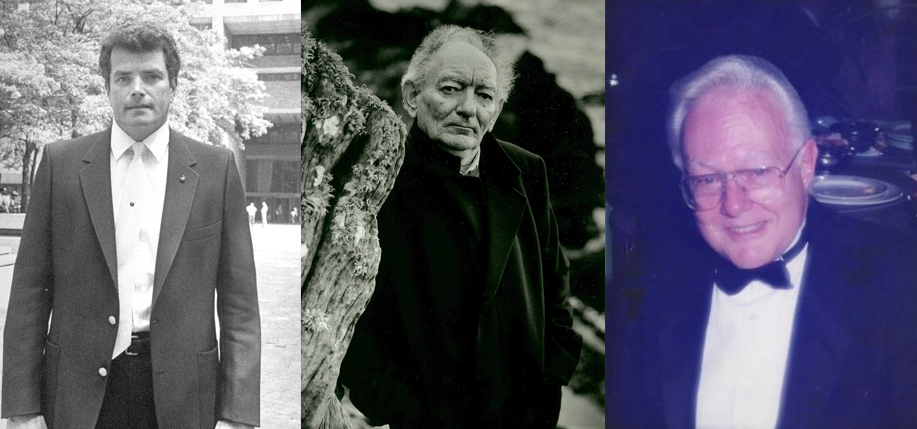 "From left: Joseph Coffey, Brian Friel, John ""Jack"" Irwin."