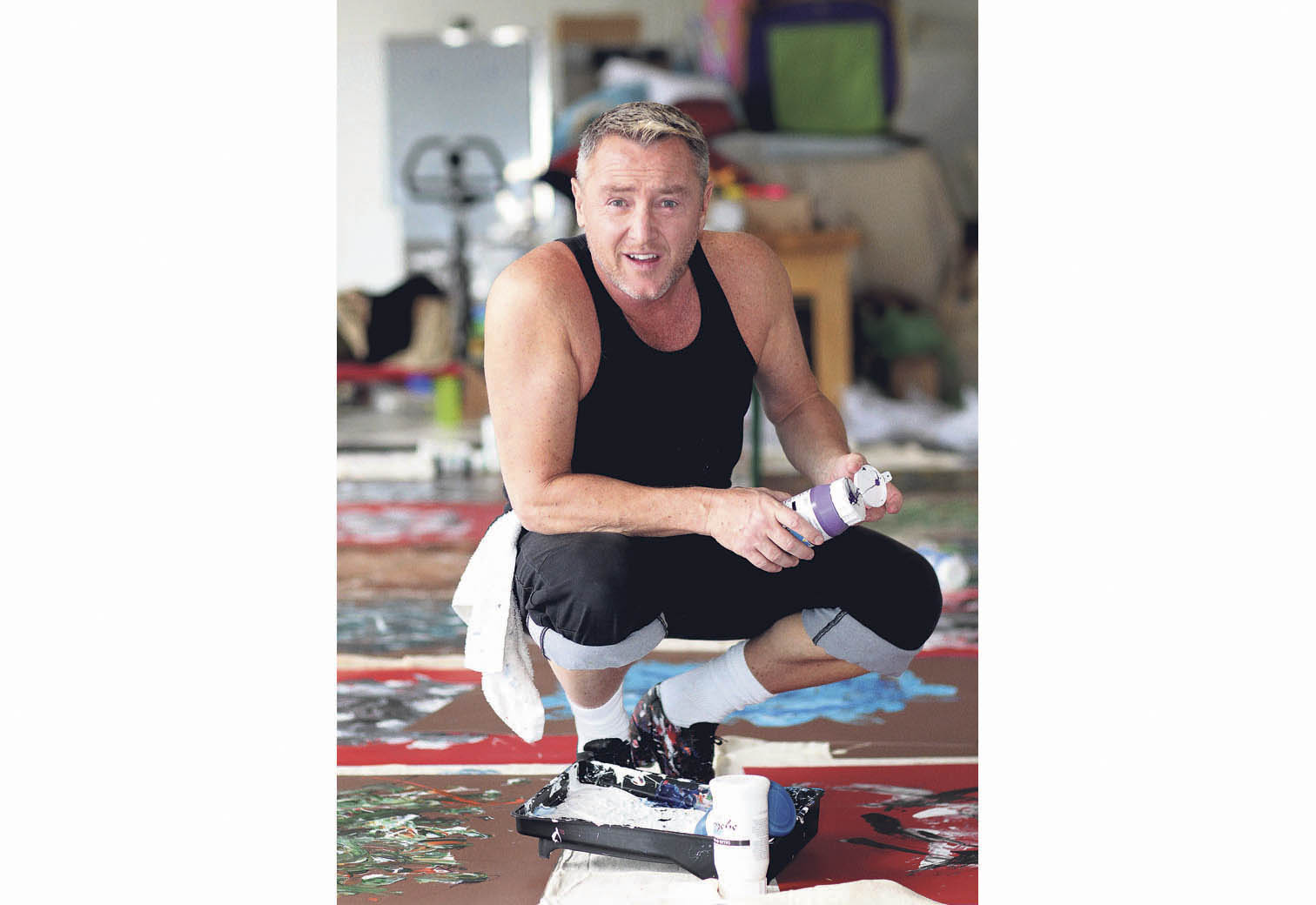 Flatley in his studio. (Photo: Bryan McEvoy)