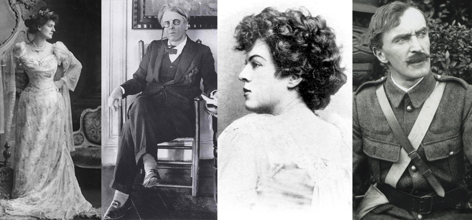 Left to right, the poets of the Rising: Countess Markievicz, W.B. Yeats, Dora Sigerson, The O'Rahilly.