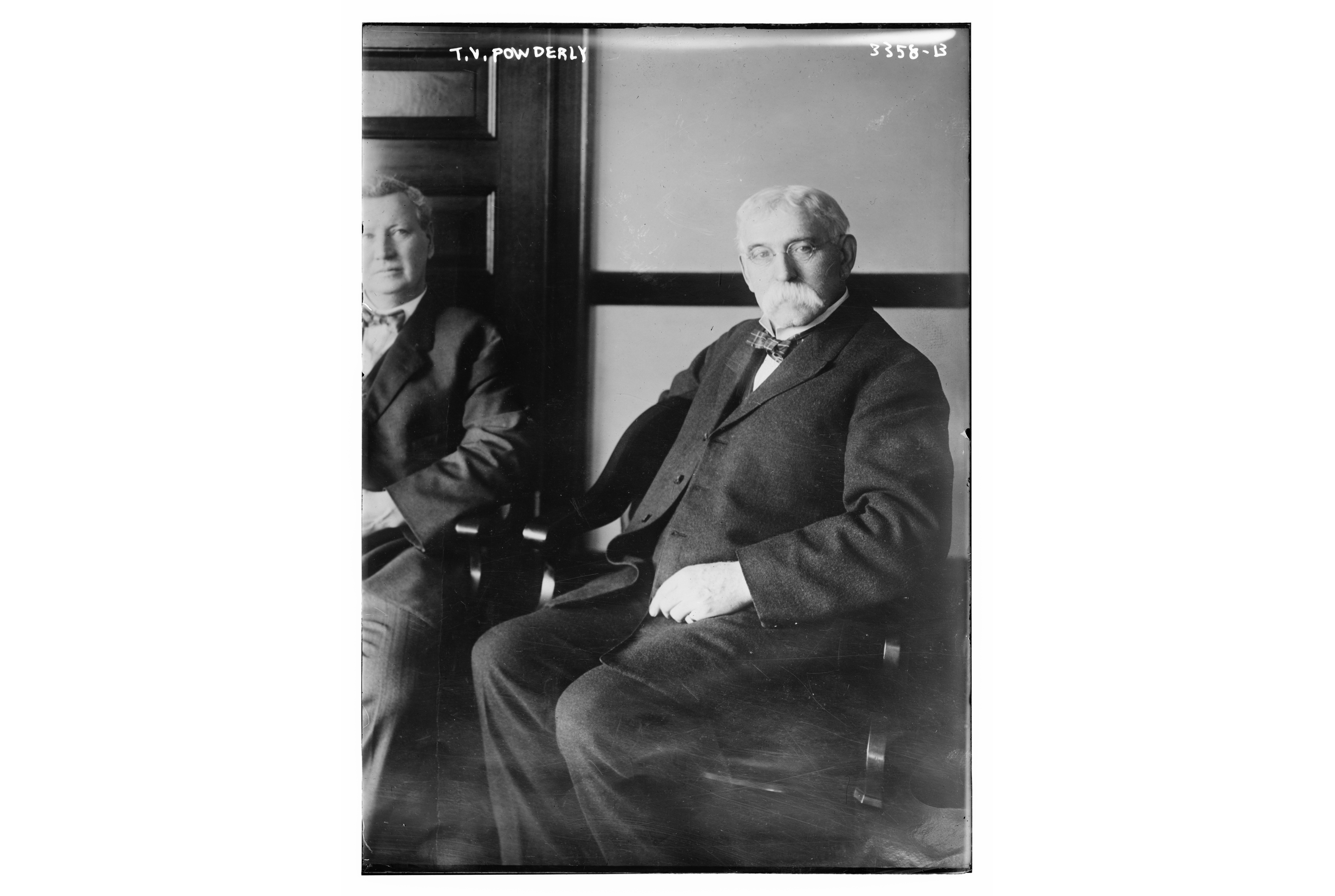Terence V.  Powderly (1849-1924) who served as a labor union leader of the Knights of Labor  and later as Chief  Information Officer  for the U.S. Bureau of  Information from 1907 to 1921.