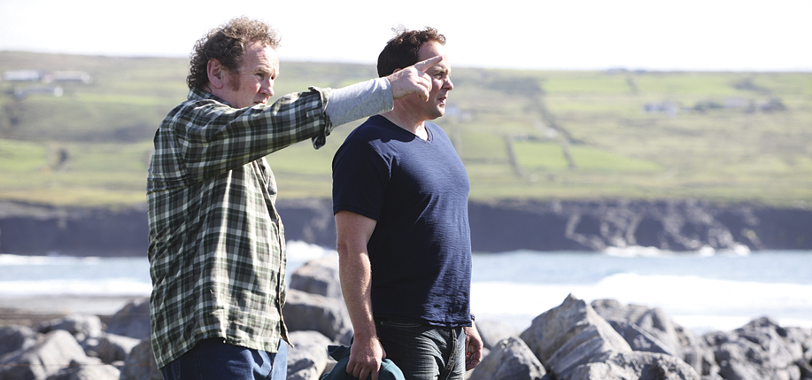 "Irish actor Colm Meaney, left, and Cleveland filmmaker-actor Sean Lackey in ""The Yank."" (CIFF)"