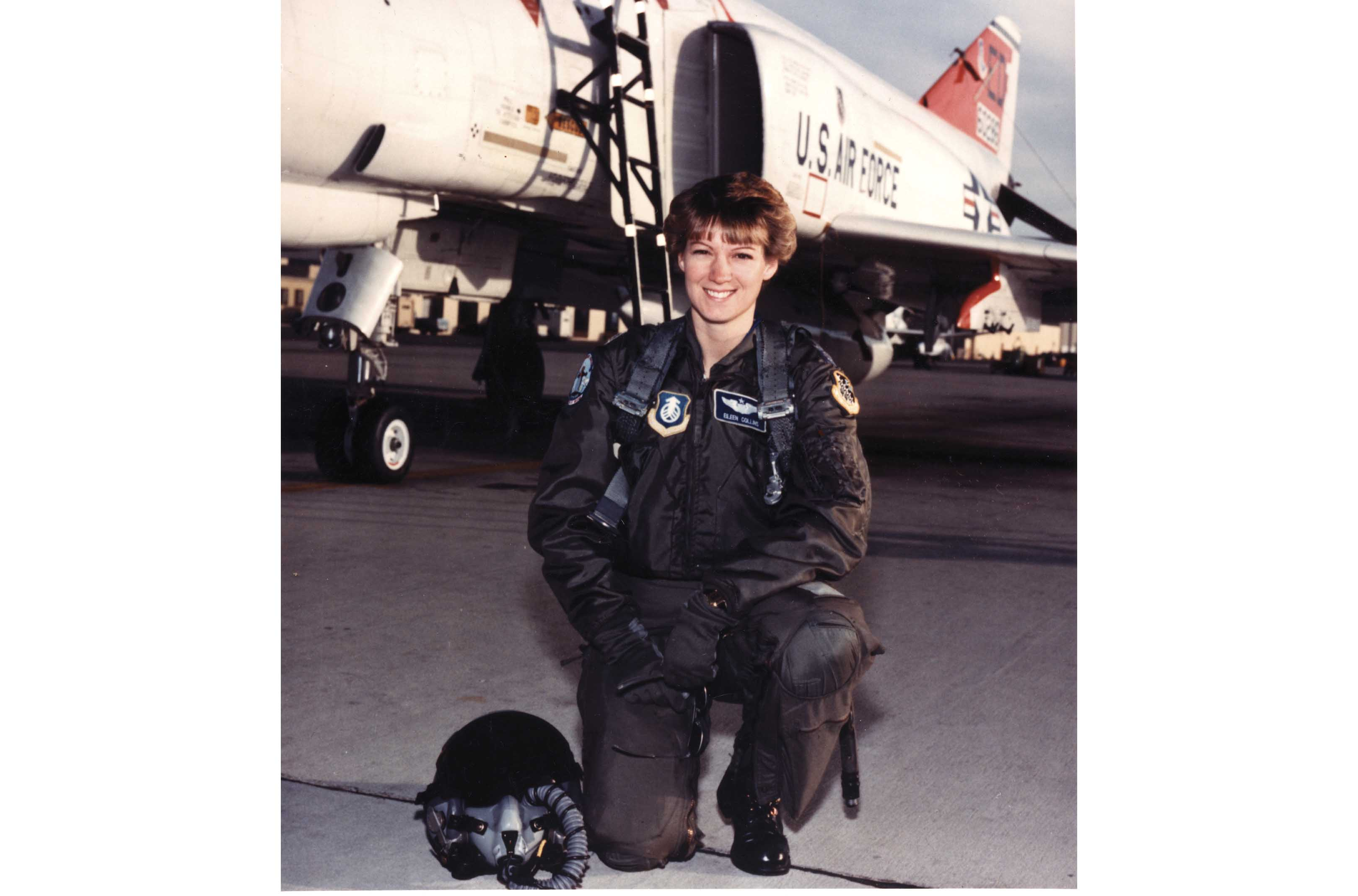 Collins at the Air Force Test pilot school at Edwards Air Force Base, CA, 1989.