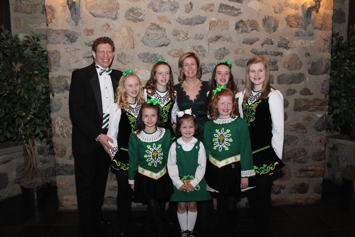 Anne Anderson pictured here with the McDade Cara Dancers at the event.