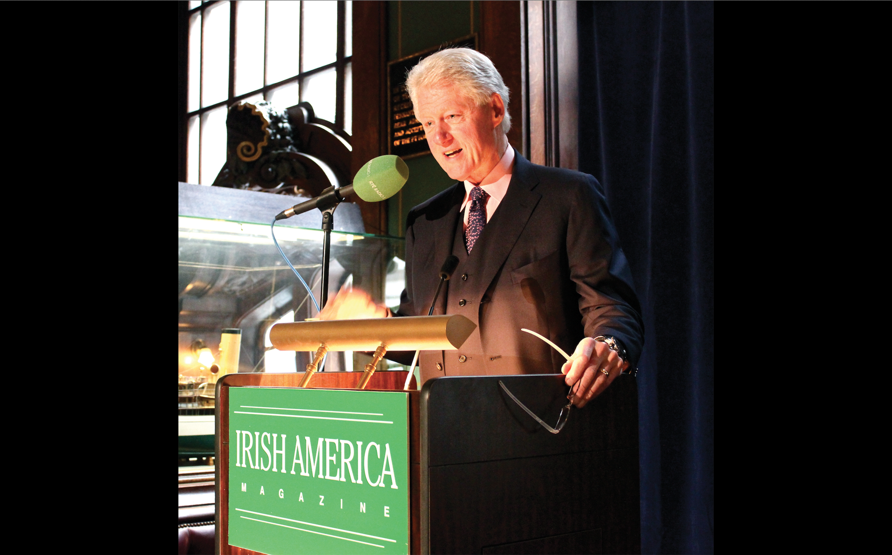 Former President Bill Clinton is inducted into the Irish America Hall of Fame in March, 2011.
