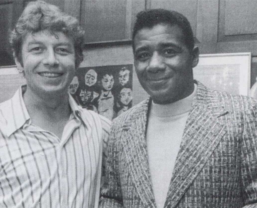 With Floyd Patterson at a party in Hamill's house in Park Slope, Brooklyn.