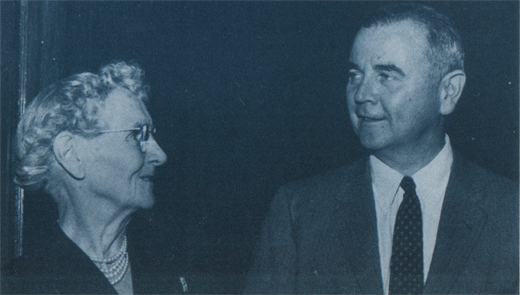 October 16 1956: William Brennan and his mother Agnes McDermott on his investiture.