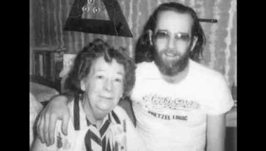 George Carlin and his mother Mary Bearey.