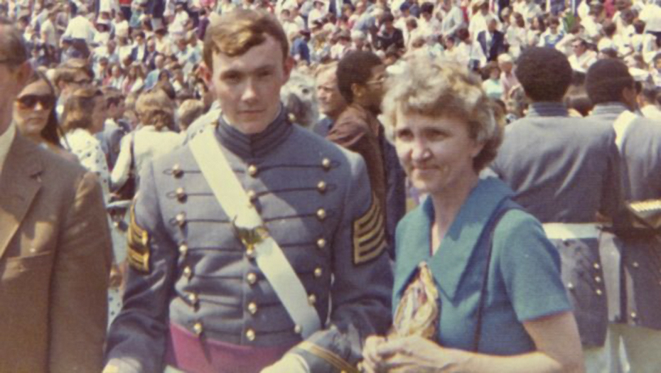 The Class of 1974. Martin Dempsey and his mother Sarah.