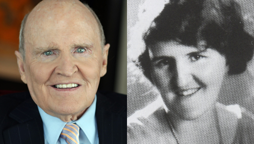 Jack Welch and his mother Grace.