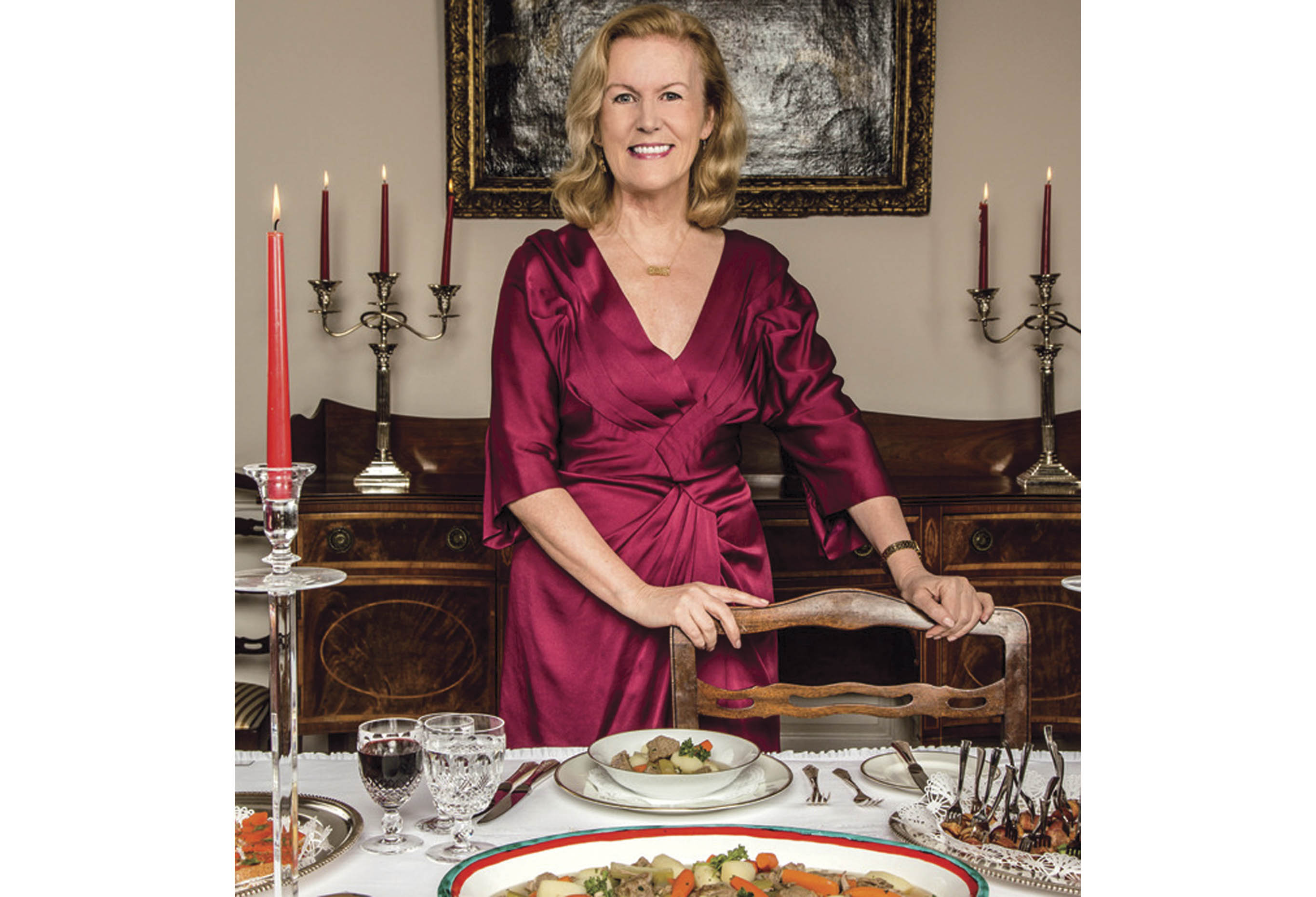 Ambassador  Anderson loves to highlight Ireland's dairy and meat products when she hosts gatherings at her  residence, as this photo from Capitol File  illustrates.