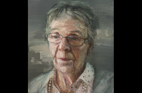 Maureen Reid. Painting by Colin Davidson.