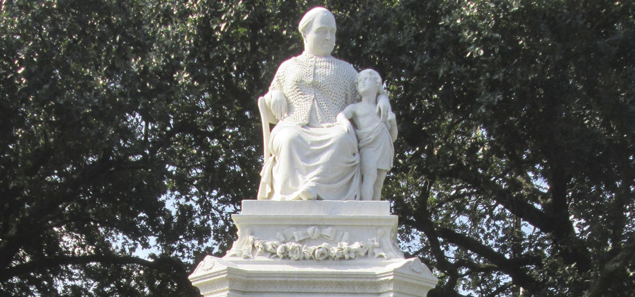 Margaret Haughery's statue in Margaret Place in New Orleans.