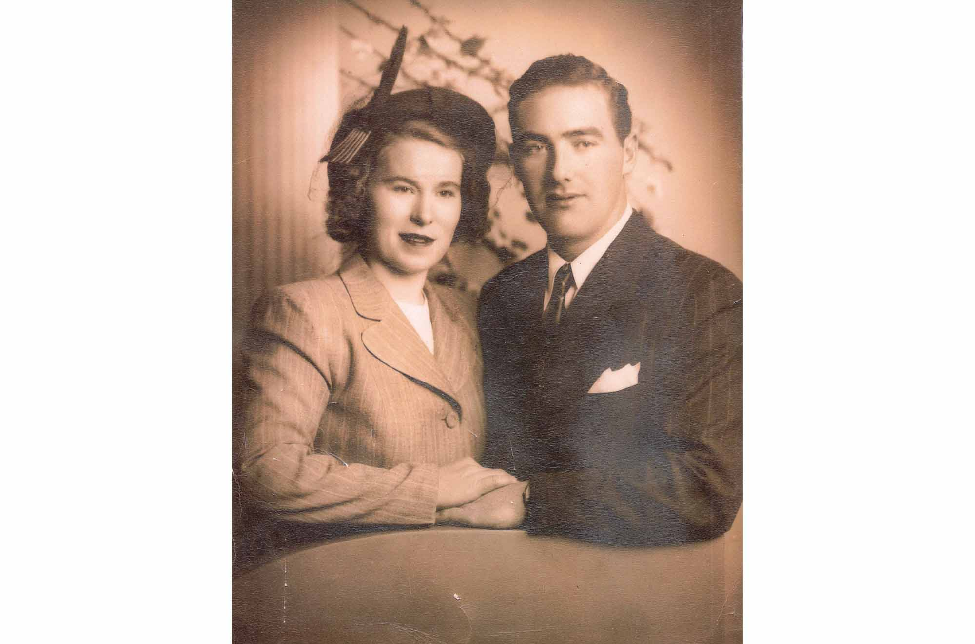 Maureen's parents, Mary and William Mitchell, 1948. (Photo courtesy Maureen Mitchell)