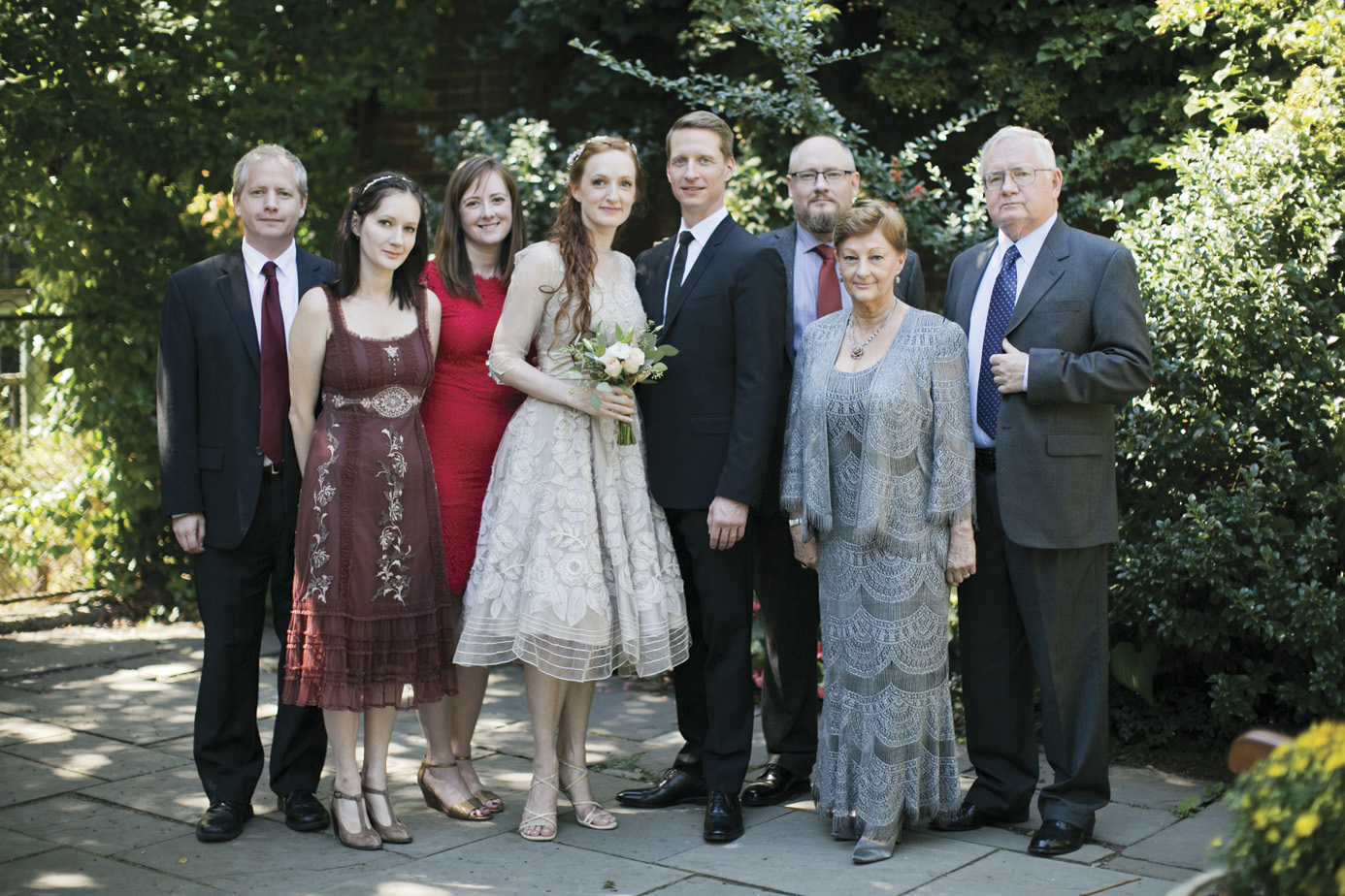 Wedding day, September 19, 2015. Pictured with the Murphy side of the family  (from left to right: Kevin, Tessa, Amy (Kevin's fiance), Gillian, Ethan, Thad, Carol (mom), Paul (dad) Murphy. (Photo: Mel Barlow)