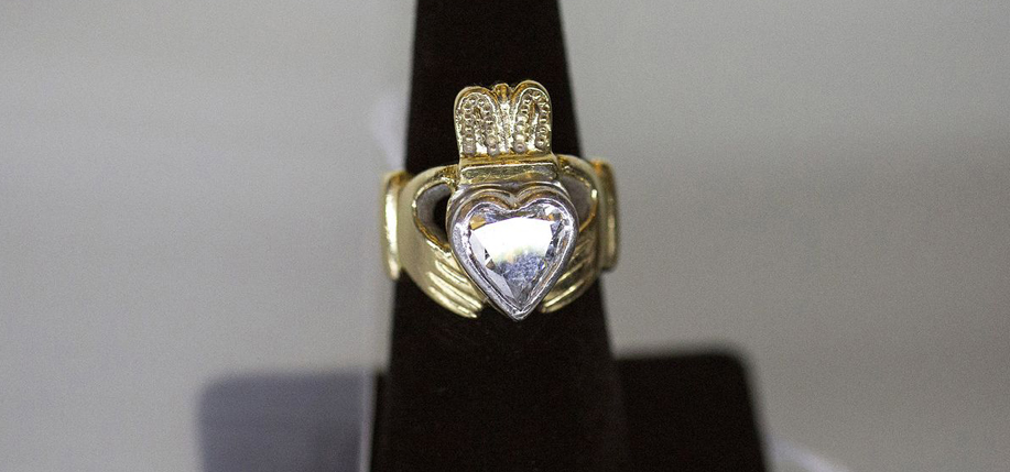 Boston gangster Whitey Bulger's claddagh ring, which sold at auction for $23,000 to raise money for victims' families.