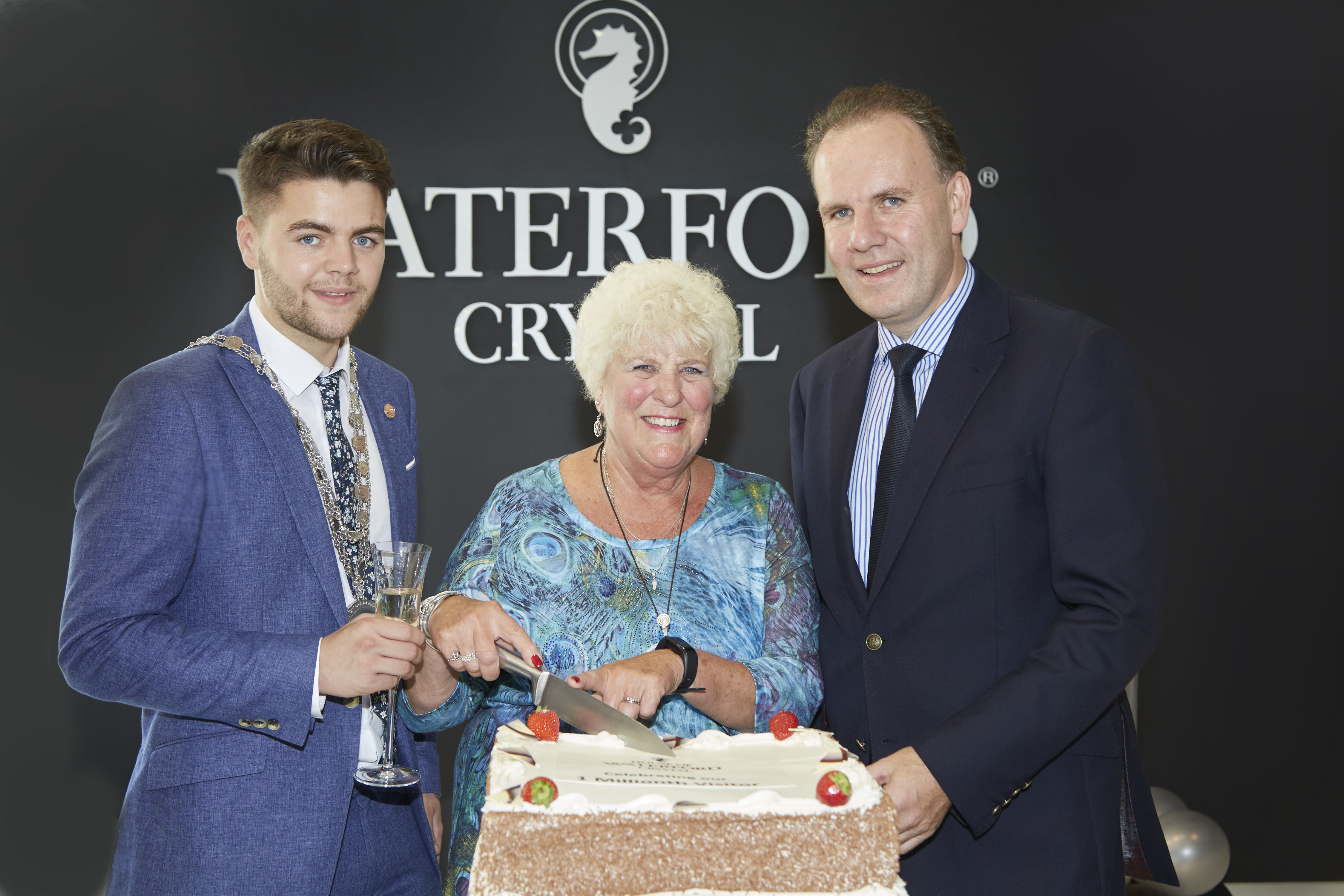 House of Waterford Crystal Celebrating their 1 Millionth Visitor