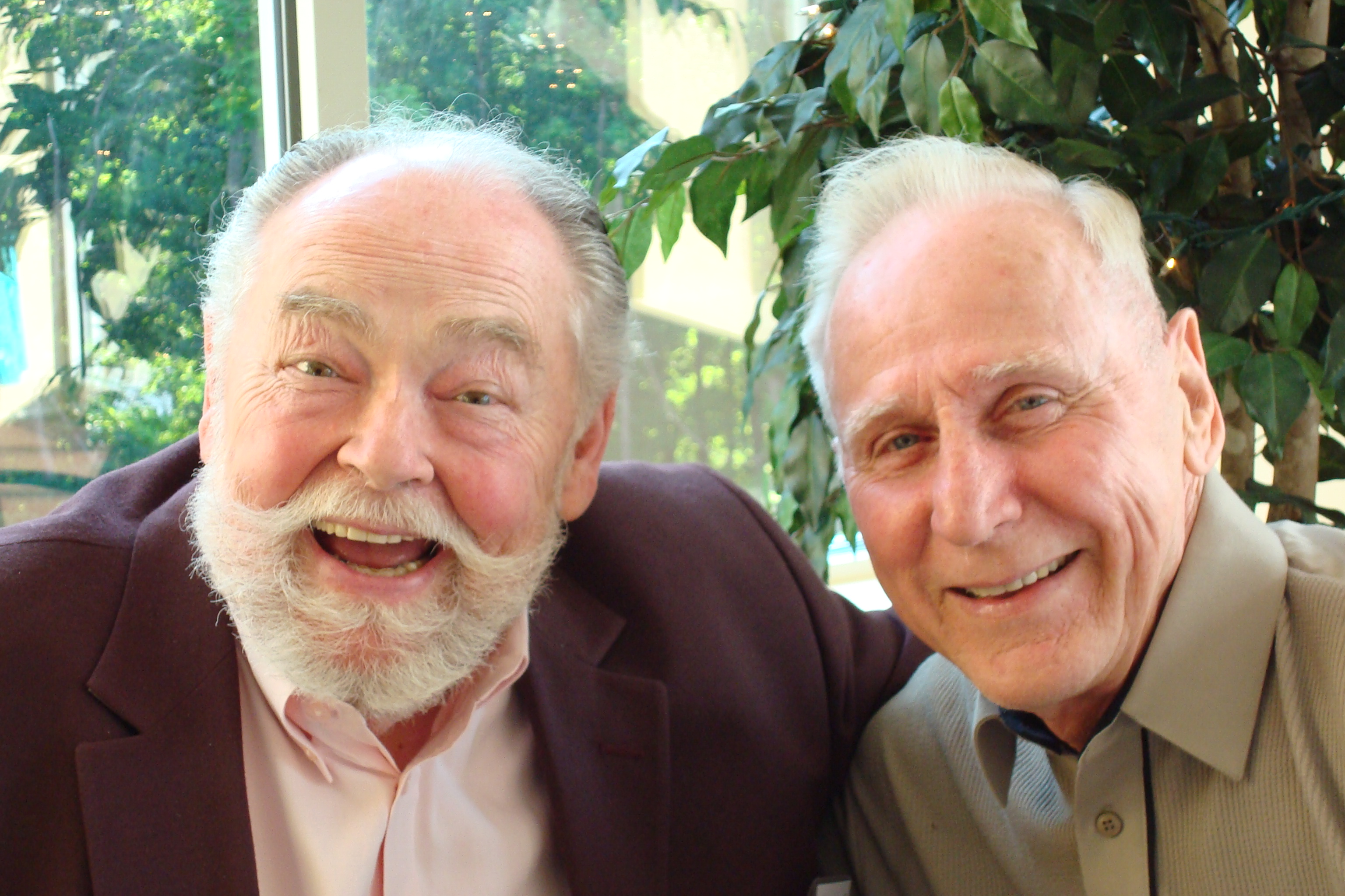 John Duffy with Father Bill Hultberg, who served as Caron's  spiritual advisor until his retirement last year.